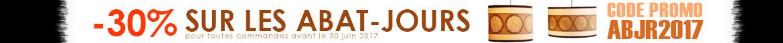 -30% sur les abats-jours jusqu'au 30 juin 2017, profitez en !