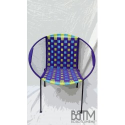 Fauteuil Togo Mix Prune anis /turquoise