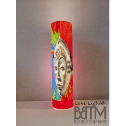 Lampe Tube Love Light Punu in Red