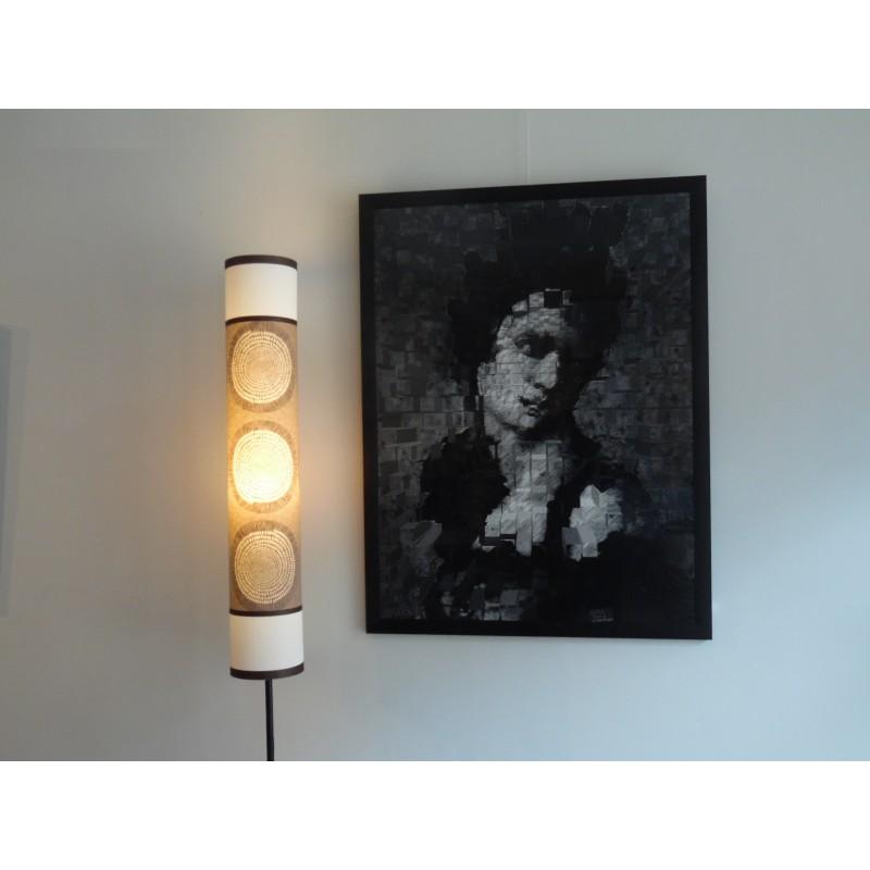 Lampadaire avec ronds/wood